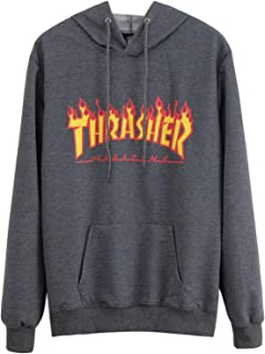 Flame Hoodies Pullover Sweatshirt for Mens Womens