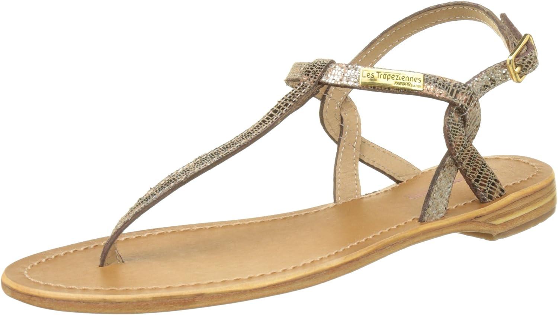 LES TROPEZIENNES par M BELARBI Womens Sophisticated Billy Flat Leather Sandals