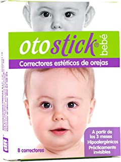 Otostick Baby, Aesthetic Correctors for Prominent Ears, Contains 8 Correctors and 1 Cap, 3+ Months