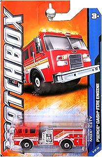 2011 MATCHBOX PIERCE DASH FIRE TRUCK 28/120 8 OF 10 IN SERIES MBX CITY