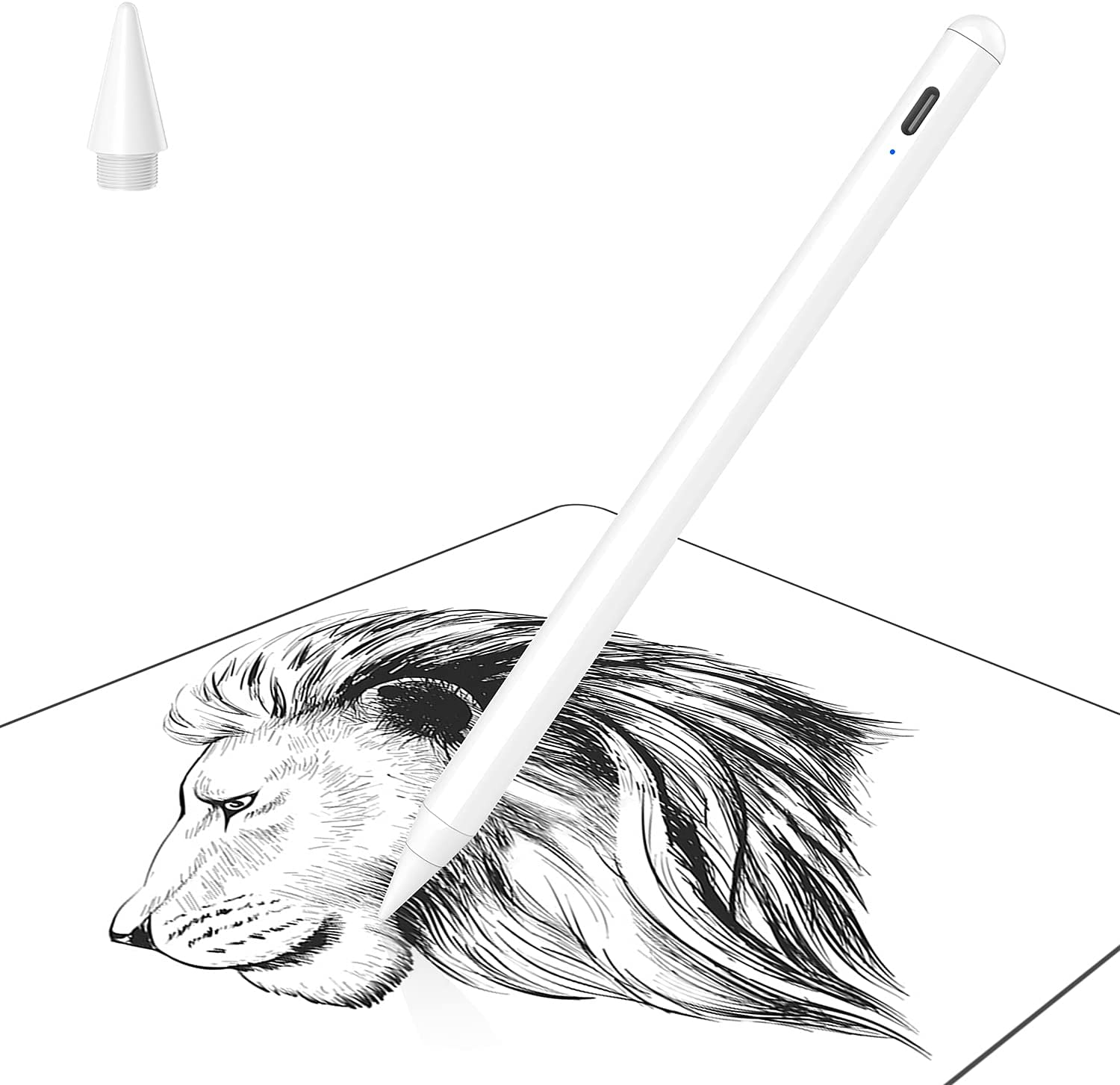 Soke Stylus Pen for iPad Touch Screen with Palm Rejection, Active Pencil Compatible with Apple iPad Pro 11/12.9 Inch, iPad 6/7/8th, iPad Air 3rd/4th, iPad Mini 6th/5th Generation for Writing/Drawing