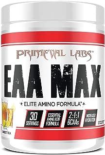 Primeval Labs EAA Max, Amino Acid Supplements, BCAAs, EAAs, Electrolytes, Enhances Performance, Supports Hydration, Improves Metabolism, Sweet Tea, 30 Servings