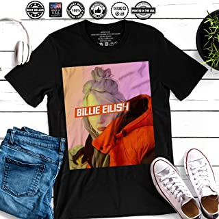 6bb1fa88 Billie Ocean Eyes Singer Eilish Music Big Fan Gift Customized Handmade T- Shirt Hoodie/