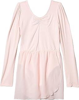 Puff Long Sleeve Leotard Dress (Little Kids/Big Kids)