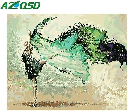 costo real KYKDY Pintura al óleo By Numbers Numbers Numbers Abstract Dancer Figure Painting Portrait pintado a mano para la decoración del hogar DIY 40x50cm szyh6228, con marco DIY, 40x50cm  a la venta