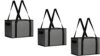 Best Earthwise Deluxe Collapsible Reusable Shopping Box Grocery Bag Set with Reinforced Bottom Storage Boxes Bins Cubes (Set of 3) (Grey) Review