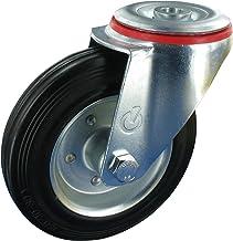 Zwenkwiel zonder vastzetter wiel 100 mm massief rubber rollager draagvermogen: 70 kg