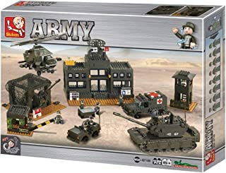سلوبن قطع تركيب بلاستيك قوات جيش- 1086 قطعة , M38-B7100