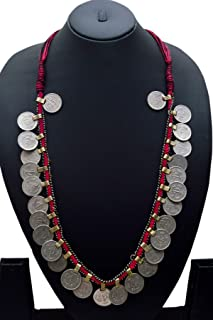 Handmade Ethnic Coin Thread Chain Necklace Jewelry