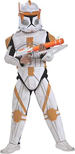 Rubies DéguiseHommest Deluxe Clonetrooper Comhommeder Cody (Star Wars - Clone Wars) - Enfant Taille   5 7 Ans (108 à 120cm)