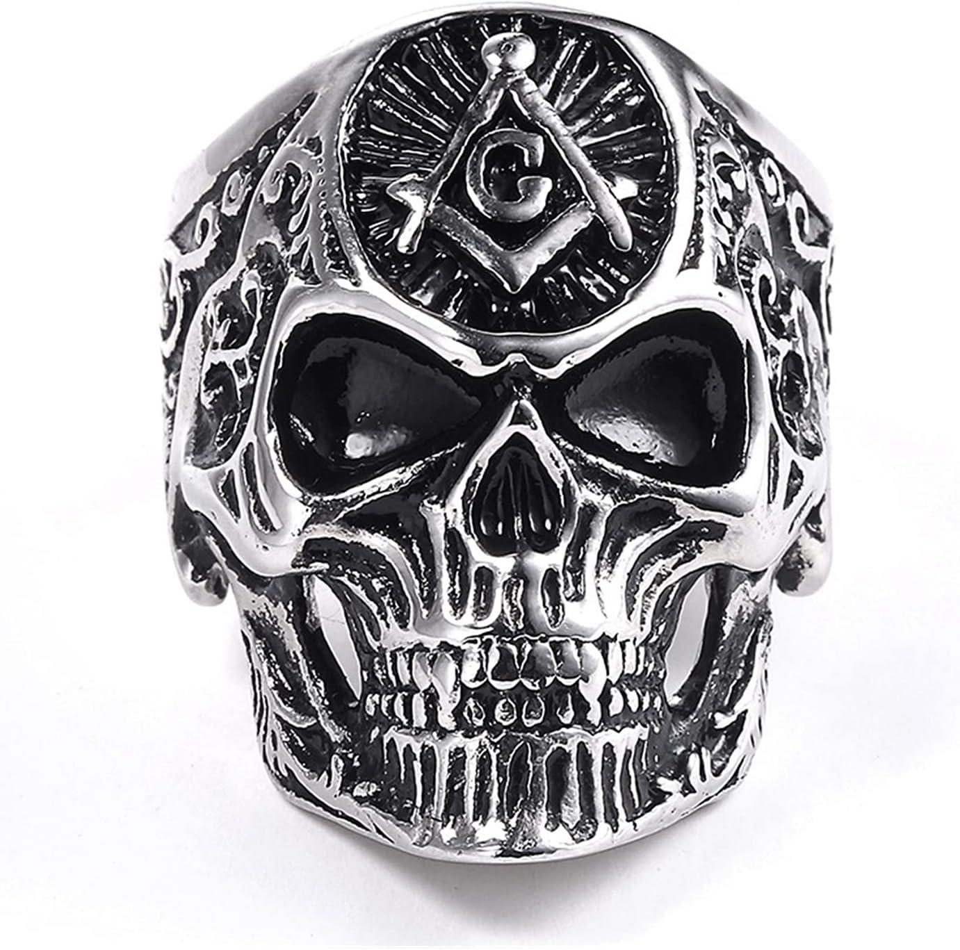 JIAH Ring Unique Punk Gothic Satanic Manufacturer direct delivery M Skull Ram Demon Austin Mall Head