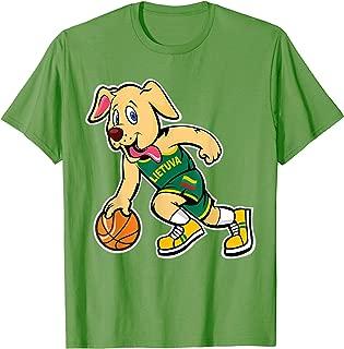Dog Lithuania Basketball Jersey Lietuva Flag Gift T-Shirt