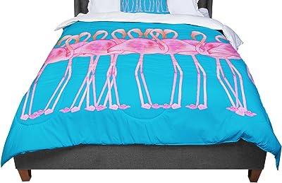 68 X 88 KESS InHouse Oriana Cordero Perfect Mason V3 Teal Pink Twin Comforter