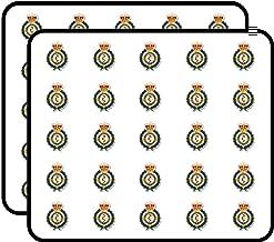 Badge Shaped London Ambulance Service - UK England Logo Crest Sticker for Scrapbooking, Calendars, Arts, Kids DIY Crafts, Album, Bullet Journals 50 Pack