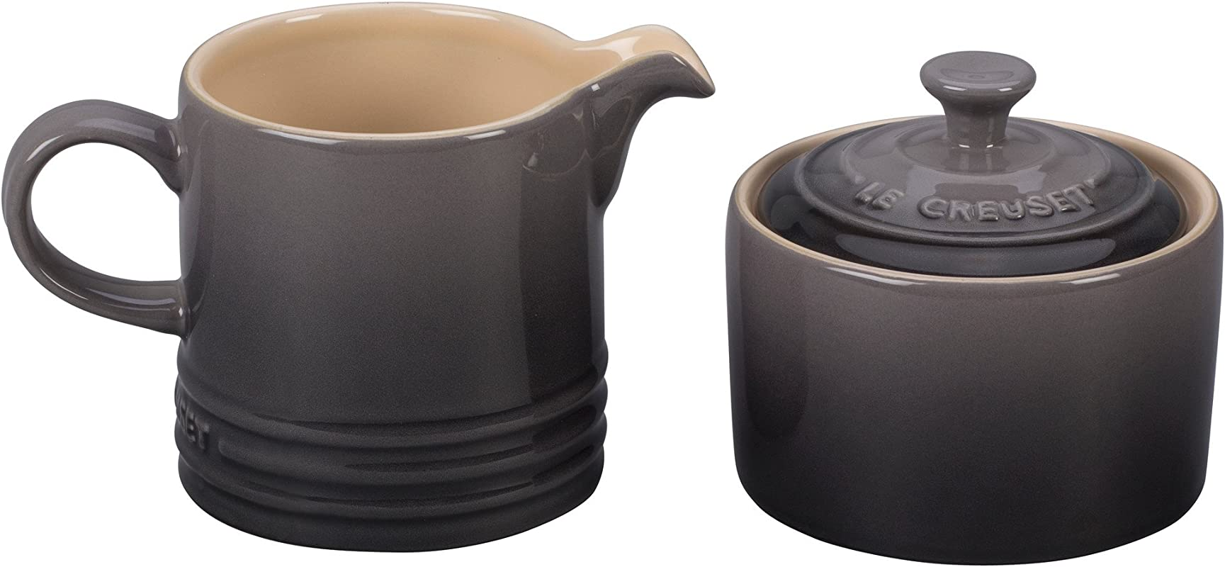 Le Creuset Of America PG8005 107F Le Creuset Stoneware Cream And Sugar Set Oyster