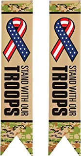 Fun Express Support Our Troops Wall Pennants | Great for Patriotic Themed Events, Soldier's Birthday Party, Independence D...