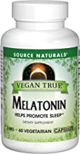 SOURCE NATURALS Vegan True Melatonin 3 Mg Vegetable Capsule, 60 Count