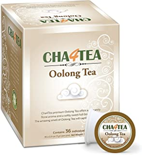 Cha4TEA 36 Oolong Tea Pods for Keurig K-Cup Brewers