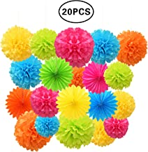 SZBAIDEKJ Paper Pom Poms Color Tissue Flowers Hanging Paper Fans Celebration Wedding Birthday Party Halloween Christmas Ou...