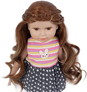 STfantasy Doll Wig for 18 Inches AG OG Doll Girls Gift Brown Highlight Blonde Long Curly Synthetic Hair