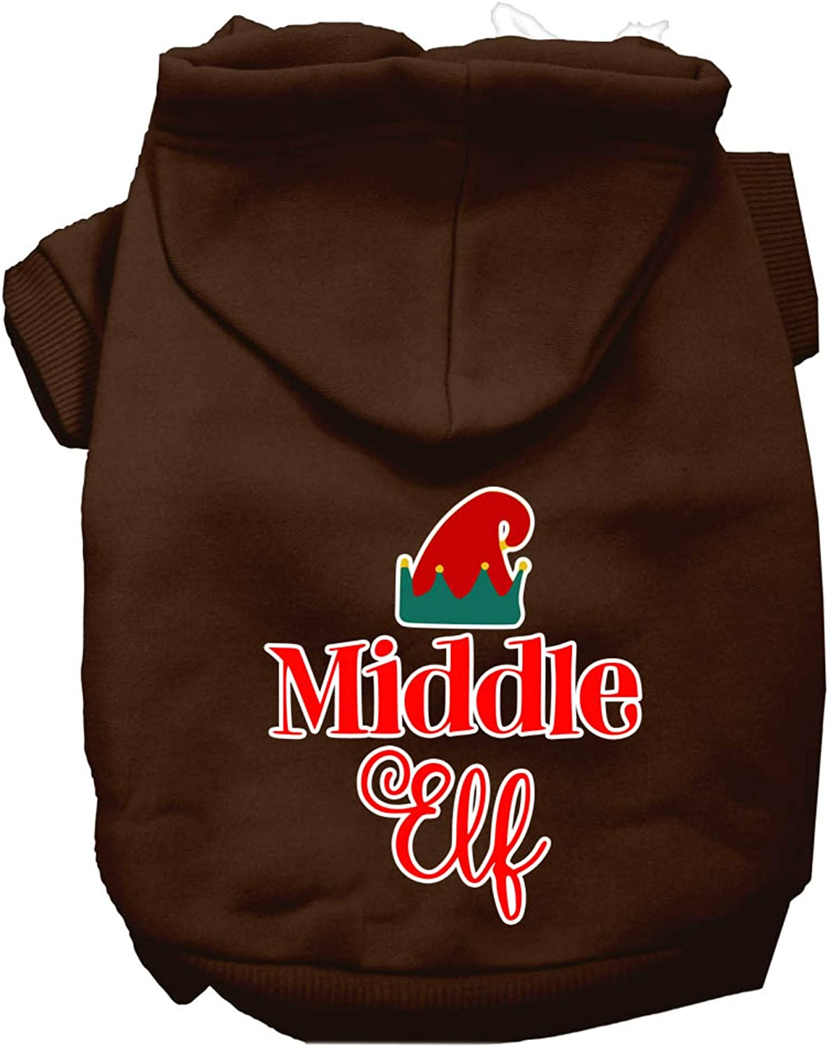 Mirage Pet Product Middle Elf online shop Screen OFFicial site Hoodie Dog Print XXL Brown