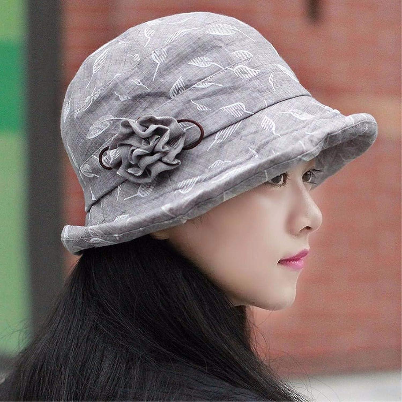 Dingkun Hat the girl broken flowerpots Ms. Cap Fashion Cap of older video face small fisherman's hat painter cap wife hat