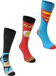 DC Comics Mens Comic 3 pack Crew Sock Mens Multi Mens 7-11