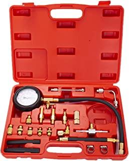 EastFly Auto Fuel Injection Pump Pressure(0-140PSI) Gauge Automotive Injector Test Gasoline Tester Tool Kit for Cars Trucks Vehicles Engine (Not for Diesel Vehicles)