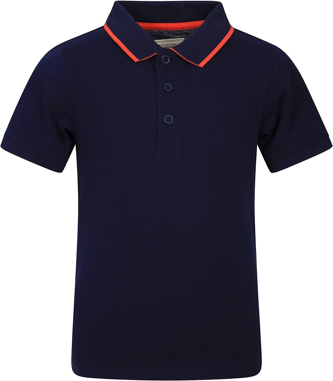 Mountain Warehouse Kids Organic Polo Shirt - Cotton, Lightweight