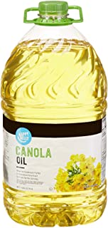 Amazon Brand - Happy Belly Canola Oil, 1 Gallon (128 Fl Oz)