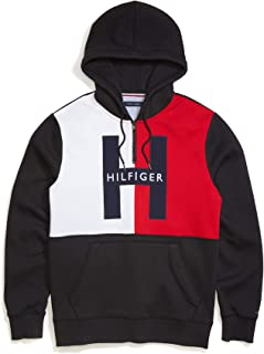 Tommy Hilfiger Men's Adaptive Hoodie Sweatshirt with Extended Zipper Pull, SM