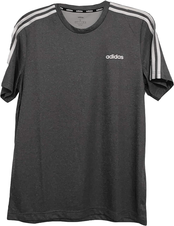 adidas Men's 3Stripes PES SOL Tee Shirt Directly managed store Seattle Mall Melange White La Black