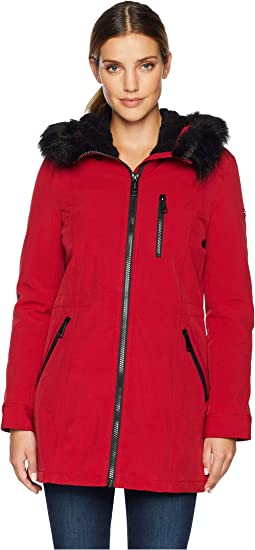 Faux Fur Trimmed Anorak Softshell