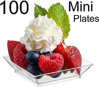 Zappy 100 Mini Dessert Plates 2.5