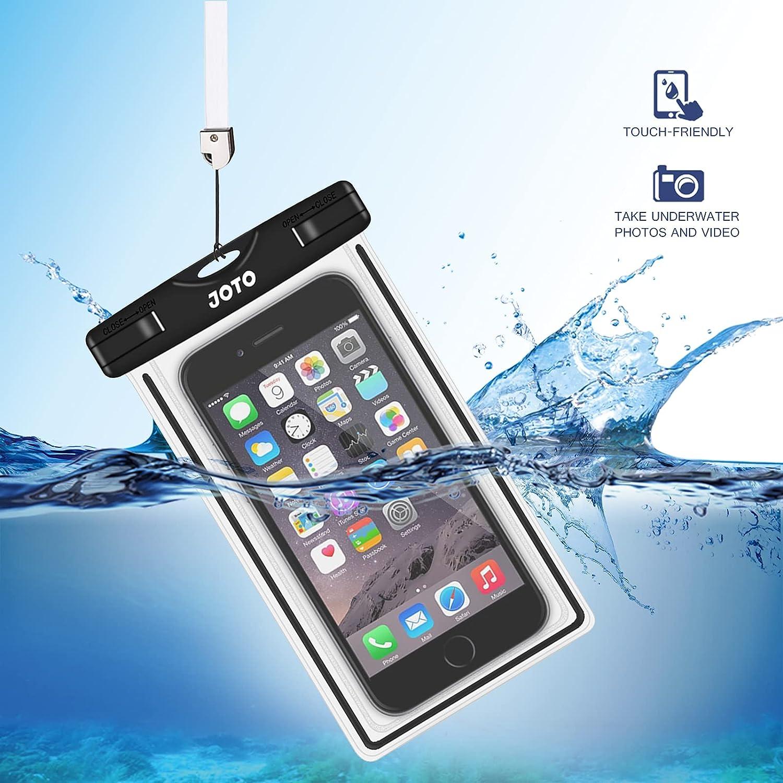 JOTO Universal Waterproof Case, Cellphone Dry Bag for iPhone XS Max XR X 8 7 6S Plus SE 2020, Galaxy S10 S10e S9 S8 Plus/S6/Note 8 6 5 4, Pixel 3 XL/3 HTC LG Sony Nokia Motorola up to 7