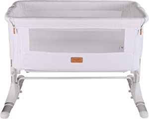 Venture Hush Bedside Sleeping Crib Cotton White