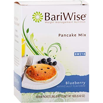 BariWise High Protein Pancake Mix/Low-Carb Diet Pancakes - Blueberry (7 Servings/Box) - Low Carb, Low Fat, Low Calorie, Sugar Free, Aspartame Free