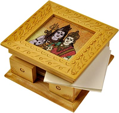 Little India Gemstone Painting Slip Pad Box Handicraft Gift 120