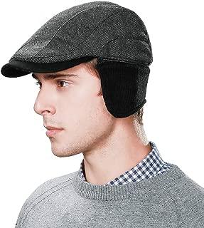 Winter Lrish Flat Lvy Newsboy Cap for Mens Hunting Driving Golf Scottish Gatsby Cabbie Hat 55-60cm