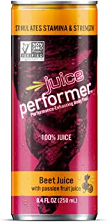 Beet Performer Beet Juice with Passion Fruit Juice 8.4 Fl. Oz. Can (12 Pack)