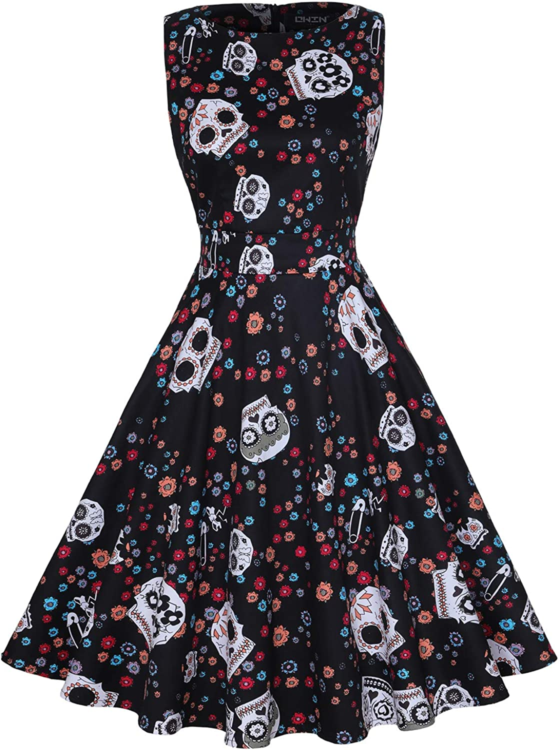 OWIN depot Women's Vintage 1950's Today's only Floral Swin Rockabilly Garden Spring
