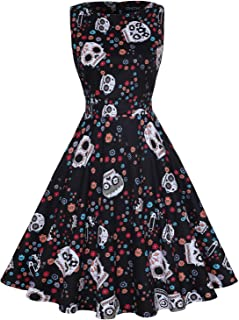 Women's Vintage 1950's Floral Spring Garden Rockabilly Swing Prom Party Cocktail Dress