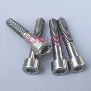 4pcs M6 x 30 mm Titanium Ti Screw Bolt Allen Hex Socket Cap Head/Aerospace Grade