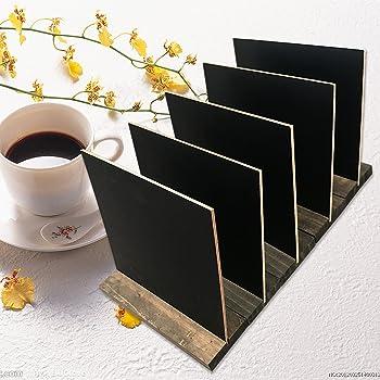 Argento Nero Securit Lavagna da Tavolo 30,8x21x6cm