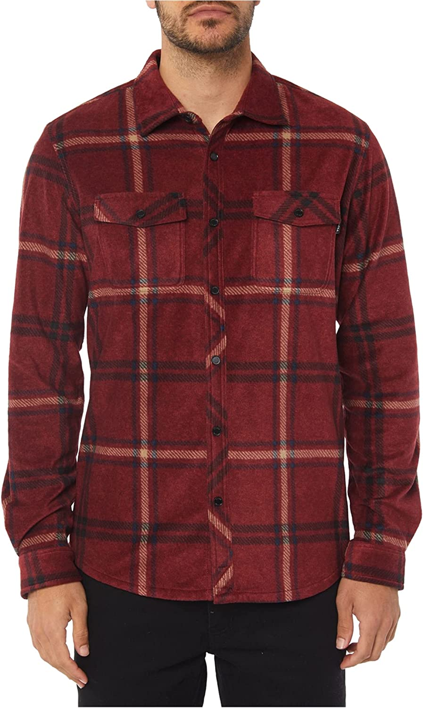 O'NEILL Men's Flannel Long Sleeve Woven Casual Button Down Shirt