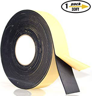 Foam Insulation Tape Adhesive, Seal, Doors, Weatherstrip, Waterproof, Plumbing, HVAC, Windows, Pipes, Cooling, Air Conditioning, Weather Stripping, Craft Tape (33 Ft- 1/8