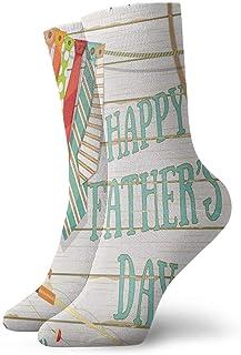 Hangdachang, Crew Socks Happy Father's Day Calcetín deportivo informal de trabajo Unisex-Adulto