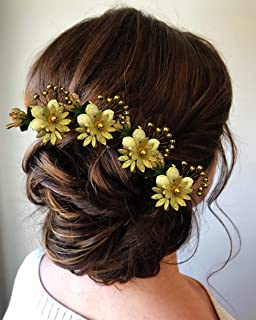 Hair Flare 2144 Women's Girl's Hair Clips Pins Long Short Hair Buns HairStyles Artificial Flowers Accessories For Weddings...