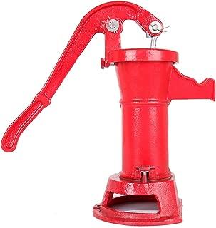 Ridgeyard 1160/ PP500NL Pitcher Hand Water Pump #2 Cast Iron Press Suction Outdoor Yard Ponds Water Garden(Red)