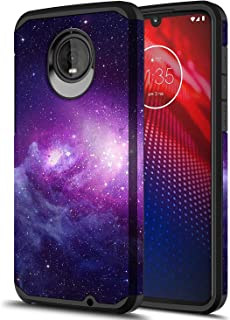 Moto Z4 Play Case, Onyxii Hybrid Dual Layer Slim Graphic Armor Shockproof Impact Resistant Protective Cover Case for Motorola Z Play 4th Generation (Galaxy Cloud)